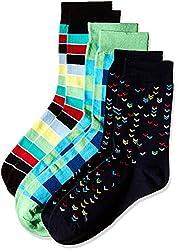 Arrow Men's Striped Knee-high Socks (Pack of 3) (8904135547817_Multicoloured)