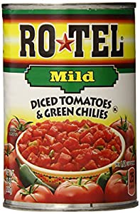 Ro-Tel Mild Diced Tomatoes & Green Chilies, 10-Ounce Cans (Pack of 12)