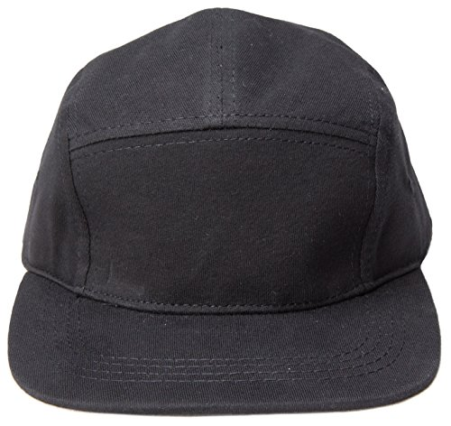 5-Panel-Hats-One-Size-Black-Jersey