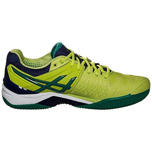 Asics Gel-Resolution 6 Clay - Men's Tennis Shoes - E503Y 0588 - Lime/Pine/Indigo Blue - New 2016