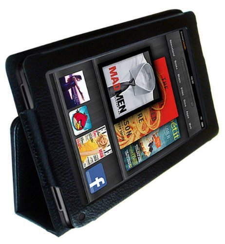 Amazon Kindle FIRE (not for HD version) Leather Case Cover and Flip Stand Wallet Plus FREE Capacitive Stylus Pen