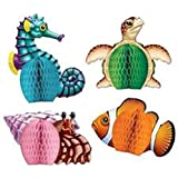Sea Creatures Playmates Party Accessory (1 count) (4/Pkg)