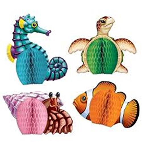 Sea Creatures Playmates   (4/Pkg)