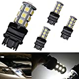 AUTOUS90 4 X 3157 3156 3057 18 SMD 5050 Reverse Backup Tail Brake Stop Turn Signal White LED Light Bulbs