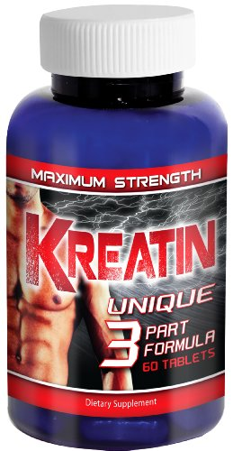 Kreatin - Pure Creatine Monohydrate Supplement, 5000Mg Pills, Optimum Tri-Phase Formula - Muscle Gain Guarantee