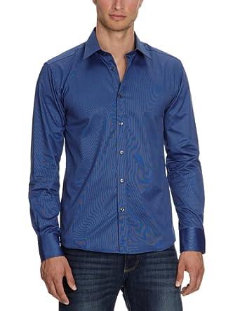 SELECTED HOMME Herren Businesshemd Slim Fit 16016584 One Pelle Santiago Blue, Gr. 48 (S), Blau (Blue)