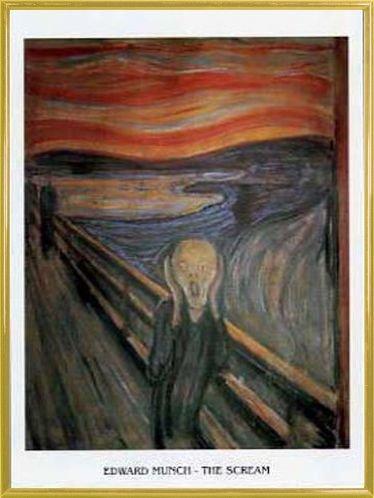 Edvard Munch Poster Reproduction et Cadre (Plastique) - Le Cri XIII (80 x 60cm)