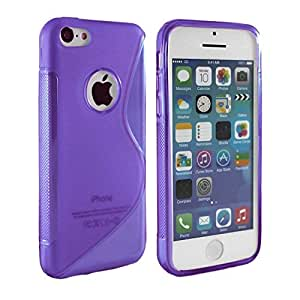 Purple S-Line Gel Skin Case Cover IPhone 4/4G/4S With Free Screen Protector + Polishing Cloth & Mini Touch Screen Stylus By Connect Zone®