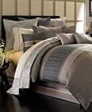 Waterford Linens Alana Luxury King Comforter Gray