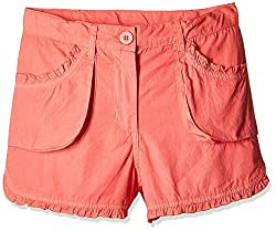 Nauti Nati Girls' Shorts (NSS16-919_Light Pink_4Y)