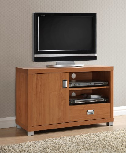 Techni Mobili TV Stand with 1 Drawer, Maple