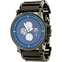 Vestal Men's PLA014 Plexi Acetate Grey Stripes Black Chronograph Watch from Vestal