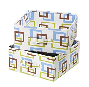 Honey-Can-Do SFT-01569 Accessory Drawers for Hanging Organizer, Green/Blue/Brown
