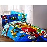 Nintendo 72 by 86-Inch Super Mario Fresh Look Comforter, Twin/Full