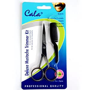 elixir beauty cala deluxe mustache trimmer kit scissors comb trimming kit hair. Black Bedroom Furniture Sets. Home Design Ideas