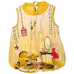 Leo n Babes Girls' Top (40002 Mustard C_Yellow_2 - 3 Years)