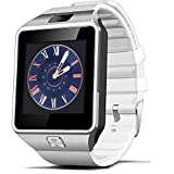 EFOSHM@ Bluetooth Smart Watch with Camera for Samsung S5 / Note 2 / 3 / 4, Nexus 6, Htc, Sony and Other Android Smartphones (White)