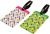 Travelon Luggage Dots Set Of 2 Luggage Tags