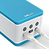 MLii™Eraser indoor/outdoor Ultra-Portable Wireless Bluetooth 4.0(fully backward compatible) Speaker with Built in Speakerphone &8 hours rechargeable battery and 2 bass resonance structure-- Retail Packaging