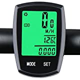 WFR® Multi-Function Wireless Bike Computer - Touch Mode Waterproof and Backlight Bicycle Speedometer Odometer (Track Calories/Speed/Distance 22 Funtions)