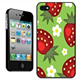 Fancy A Snuggle 'Lots of Juicy Ripe Strawberries with Daisy Flowers' Clip On Back Cover Hard Case for Apple iPhone 4/4S