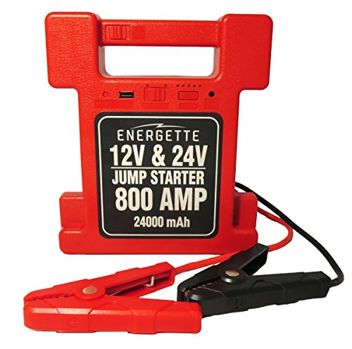 ENERGETTE POWER FREAK Jump Starter. For your Car and Heavy Duty Commercial Truck 12/24V, 24000mAh - Multi-Function Auto Start Power & Ultra-bright LED Flashlight for SOS, and High Capacity Power Bank. (Commercial Jump Box compare prices)