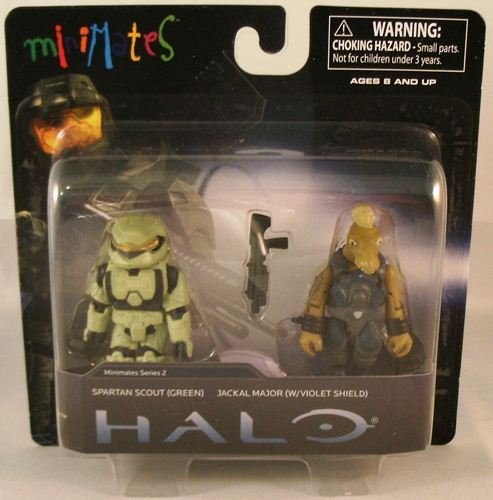 Picture of Diamond Select Halo Minimates Mini Figure 2Pack Spartan Scout Green Jackal Major with Violet Shield (B0052XN3NG) (Halo Action Figures)