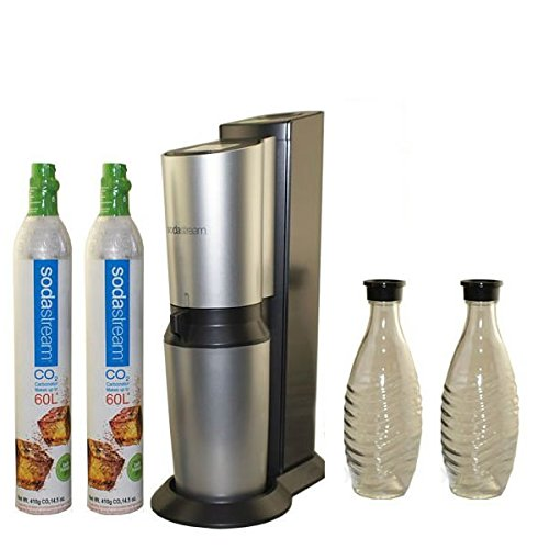Sodastream crystal home soda maker crystal glass carafe - Sodastream 60 liter carbonator spare cylinder ...