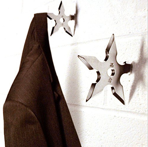 Ninja Coat Hooks - Throwing Darts Star Stainless Steel Door Coat Hook Clothes Hanger Holder Home Decoration