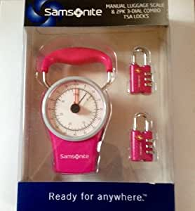 Samsonite Luggage Precision Manual Scale & 2pk Locks (PINK)
