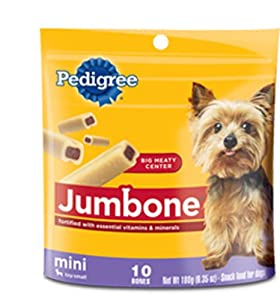 Pedigree Jumbone Mini Snack Food for Toy/Small Dogs, 10-Count Bones (Pack of 12)