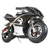 Kid Mini Ninja Gas Power Pocket Bike Motorcycle Ride-on EPA Approved 40CC 4-Stroke Ride-on Toy (Black)