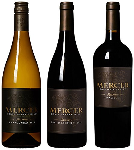 "Mercer Estates ""The Reserves"" Bordeaux Red, Rhone Red & Chardonnay Mixed Pack, 3 X 750 Ml"