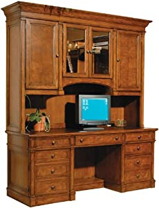Solid Wood Executive Credenza with Hutch by Hekman Furniture
