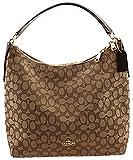 Coach Singature Hobo Crossbody Bag Handbag Purse, Khaki / Brown