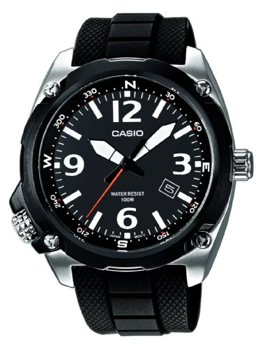 Casio Watch MTF-E001-1AVEF with Large Analogue Dial AND Resin Strap