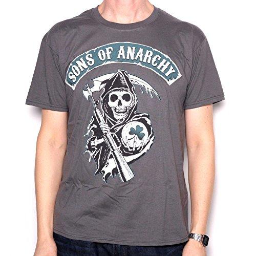 """Maglietta, motivo: """"Sons Of Anarchy Reaper, Irlanda, colore grigio, 100% ufficiale grigio XXL"""