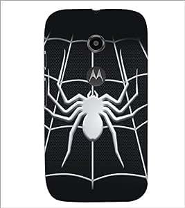 PrintDhaba Spider D-5161 Back Case Cover for MOTOROLA MOTO E2 (Multi-Coloured)