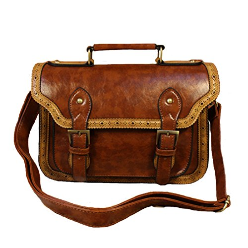 Whoinshop Women's Vintage Leather Retro Messenger
