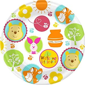 Winnie the Pooh 'Little Hunny' Baby Shower Large Paper Plates (8ct)