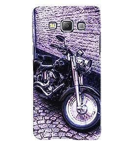 Fuson 3D Printed Bike Designer back case cover for Samsung Galaxy A7 A700F - D4501