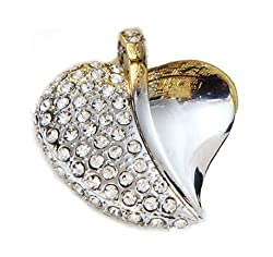 Schnell Heart Shaped Jewel Pendrive 8GB (8GB)