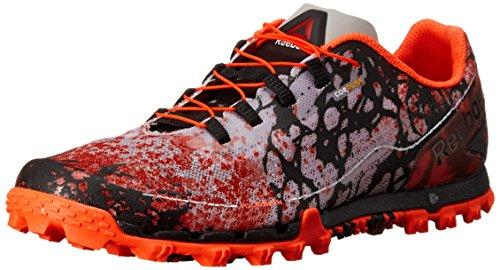 Reebok Men's All Terrain Super Or Running Shoe, Motor Red/Black/White/Atomic Red/Steel, 12 M US