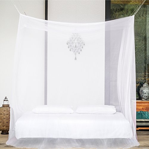 Premium Mosquito Net for Double Bed Canopy by #1 EVEN Naturals | TWO Openings | Insect Protection Repellent | Free Hanging Kit, Gift Bag & eBook |100% Satisfaction Guarantee |Screen Netting Curtain (Natural Net compare prices)