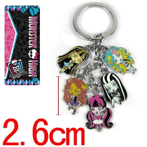 Monster High Metal Charm Keychain 5 In 1