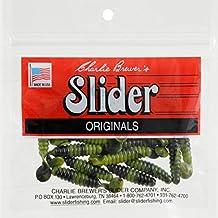 Slider Crappie/Panfish Grub Lure, 1-1/2-Inch, Green/Camo