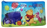 Disney Winnie the Pooh and Friends Hunny Spot Waterproof Zipper top Pouch Pen Pencil case, Stationery bag