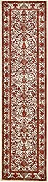 Modern Country 3 feet by 10 feet (3\' x 10\') Runner La Jolla Ivory Contemporary Area Rug