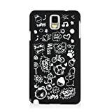 HSD Ultra Slim Fit Cartoon Pattern Plastic Hard Case for Samsung Galaxy Note 3 III N900 / N9000/ N9005 (Black)