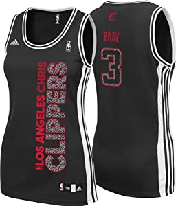Los Angeles Clippers Adidas NBA Chris Paul #3 Ladies Static Jersey (Black) by adidas